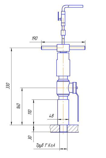 Основной монтажный чертеж Индикаторной трубки